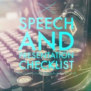 Speech checklist